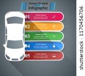road infographic design... | Shutterstock .eps vector #1170456706