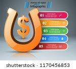 horseshoe  dollar  money  ... | Shutterstock .eps vector #1170456853
