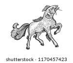 fantastic fabulous fish horse...   Shutterstock .eps vector #1170457423