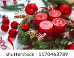 Advent Wreath With Baubles And...