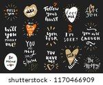 set of love vintage hand drawn... | Shutterstock .eps vector #1170466909