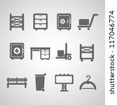 industrial icon set | Shutterstock .eps vector #117046774