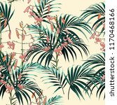 tropical background with jungle ... | Shutterstock .eps vector #1170468166