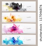 set of abstract  banners with... | Shutterstock .eps vector #117046876