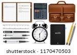 office supplies set vector... | Shutterstock .eps vector #1170470503