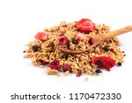 muesli cereals close up with ... | Shutterstock . vector #1170472330