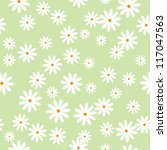Stock vector field of daisies seamless pattern eps 117047563