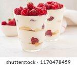 raspberry dessert  cheesecake ... | Shutterstock . vector #1170478459
