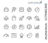 performance line icons.... | Shutterstock .eps vector #1170481300