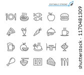 food line icons. editable... | Shutterstock .eps vector #1170481309