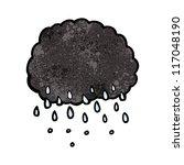 cartoon rain cloud | Shutterstock .eps vector #117048190