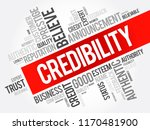 credibility word cloud collage  ... | Shutterstock .eps vector #1170481900