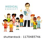 pediatrician doctor concept.... | Shutterstock .eps vector #1170485746