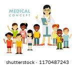 pediatrician doctor concept.... | Shutterstock .eps vector #1170487243
