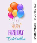 anniversary celebration birth... | Shutterstock .eps vector #1170489469