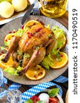 grilled chicken  with sauce on... | Shutterstock . vector #1170490519