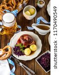 appetizing bavarian roast pork... | Shutterstock . vector #1170490549
