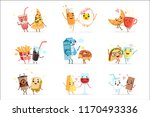 cute comic food cartoon... | Shutterstock .eps vector #1170493336