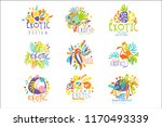 exotic  tropical summer... | Shutterstock .eps vector #1170493339