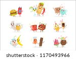 cute funny food characters... | Shutterstock .eps vector #1170493966