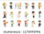 cute kids in various... | Shutterstock .eps vector #1170493996