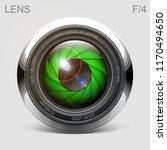 set camera lens object glass... | Shutterstock .eps vector #1170494650