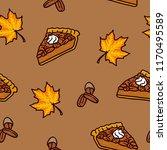 maple pecan pie seamless pattern | Shutterstock .eps vector #1170495589