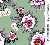 seamless pattern with pink... | Shutterstock . vector #1170496003