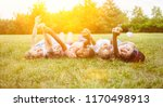 interracial group of kids as... | Shutterstock . vector #1170498913