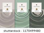 chocolate bar packaging set.... | Shutterstock .eps vector #1170499480
