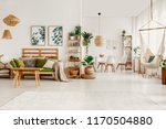 posters above green sofa in... | Shutterstock . vector #1170504880