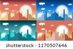 mosque vector background | Shutterstock .eps vector #1170507646