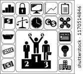 set of 17 business icons.... | Shutterstock .eps vector #1170514846
