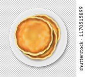 plate with pancake isolated...   Shutterstock .eps vector #1170515899