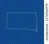 map of south dakota | Shutterstock .eps vector #1170516979