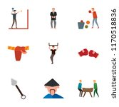 set of 9 simple icons such as... | Shutterstock .eps vector #1170518836