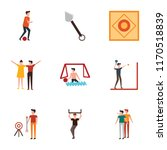 set of 9 simple icons such as... | Shutterstock .eps vector #1170518839