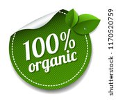 100  organic product label... | Shutterstock .eps vector #1170520759