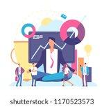 meditation concept. businessman ... | Shutterstock .eps vector #1170523573