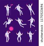 cartoon astronauts. spaceman...   Shutterstock .eps vector #1170523696