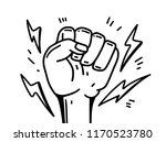 vector illustration. hand human ... | Shutterstock .eps vector #1170523780