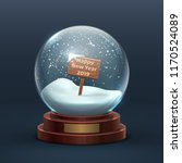 snow globe. christmas holiday... | Shutterstock .eps vector #1170524089