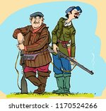 hunters lokking for prey.... | Shutterstock .eps vector #1170524266