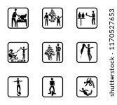 set of 9 simple icons such as... | Shutterstock .eps vector #1170527653