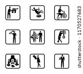 set of 9 simple icons such as... | Shutterstock .eps vector #1170527683