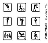 set of 9 simple icons such as... | Shutterstock .eps vector #1170527743