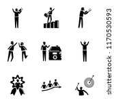 set of 9 simple icons such as... | Shutterstock .eps vector #1170530593