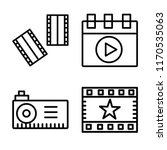 set of 4 vector icons such as... | Shutterstock .eps vector #1170535063