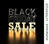 black friday sale sign on black ... | Shutterstock . vector #1170535123