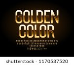 chic golden font. luxury... | Shutterstock .eps vector #1170537520